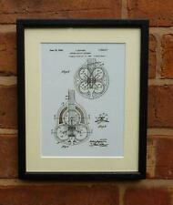 USA Patent Drawing  DOPERA RESONATOR STEEL GUITAR MOUNTED PRINT 1926 Xmas Gift