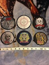 Iron Maiden Megadeth Slayer Motorhead Vintage Patches Lot