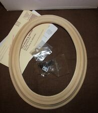 "Van Hygan Smythe Unfinished Wood Plate Holder Frame #75719 Oval 8.5"" x 6.5"" NEW"