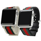Canvas iWatch Watch Band Strap Buckle Armband Uhren Band Apple Watch 38mm/42mm