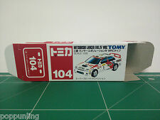 REPRODUCTION BOX for Tomica Red Box No.104 Mitsubishi Lancer Evolution IV WRC