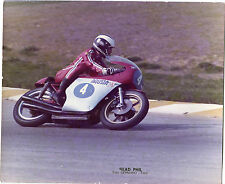FOTOGRAFIA ORIGINALE  D'EPOCA,READ PHIL,MOTO MV AUGUSTA,GERMANO ART