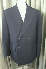 Gieves & Hawkes Vintage 60s Savile Row Black Double Breasted Blazer 42S