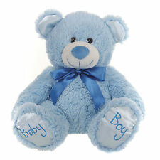 "BRAND NEW CHILDS 10"" ITS A BOY BLUE TEDDY BEAR PLUSH SOFT TOY FOR CHILDREN"
