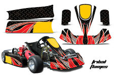 AMR Racing Paul Tracy PKT Kid JR Cadet Kart Graphic Decal Kit Parts TRIBAL RED