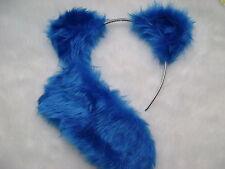 Care Bear Grumpy Bear Royal Blue Ears & Stubby Tail Instant Faux Fur Fancy Dress