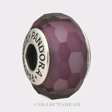 Authentic Pandora Sterling Silver Murano Fascinating Purple Bead 791071