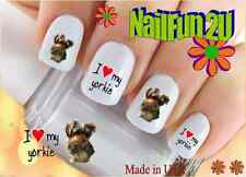 "RTG Set#157 DOG BREED ""Yorkie I Love"" WaterSlide Decals Nail Art Transfers Salon"