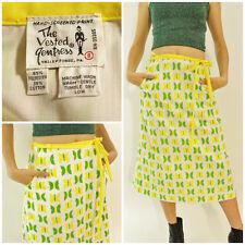 VTG 60s THE VESTED GENTRESS Butterfly WRAP Hippy Boho MOD Dress Skirt s/m