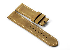 22mm Vintage Brown Genuine Leather Watch Strap Band For Panerai Luminor 1950