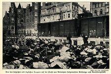 1914 Belgien * Antwerpen: Fortgeworfene englische und belg.Ausrüstung  *  WW1
