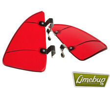 VW Window Wind Deflector Breezes Air Red Quarter Light Beetle Hotrod Camper T1