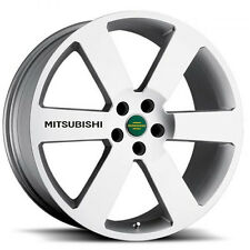 New - 4 Mitsubishi Black Wheels Decal Sticker Emblem Lancer Ralliart Evolution