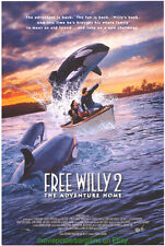 FREE WILLY 2: THE ADVENTURE HOME MOVIE POSTER KILLER WHALE FILM 1995