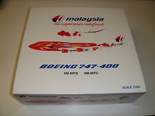 "1/200 JCWings Malaysia Airlines B747-400 ""Hibiscus"" 9M-MPD"