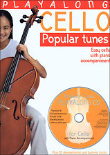 CELLO POPULAR TUNES With Piano Accompaniment Sheet Music Book & CD Pop Classical