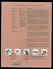 #4608-12 85c Birds of Prey USPS #1207 Souvenir Page