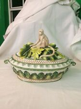 Flitz And Floyd Cape Town Covered Tureen Bowl With Monkey On Lid .