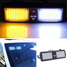 Autos Sun Visor SunShield Emergency Warning Strobe Flash 86LED Light Amber/White