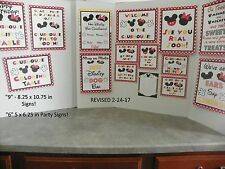 Disney Mickey and Minnie Mouse DELUXE 15 Piece Cardstock Set RED/BLK Rev 2-24-17