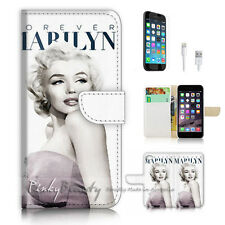 iPhone 7 (4.7') Flip Wallet Case Cover P2954 Marilyn Monroe