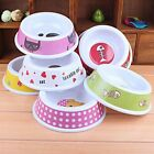 New Pet Dog Cat Puppy Go Slow Eating Feed Bowl Food Water Dish Color Random