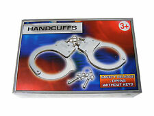 2 PAIRS CHILDRENS KIDS METAL HANDCUFFS HAND CUFFS WITH SAFETY RELEASE + 2 KEYS