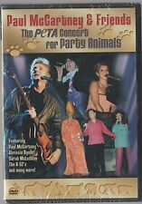 PAUL McCARTNEY & FRIENDS THE PETA CONCERT FOR PARTY ANIMALS DVD BEATLES SEALED!!