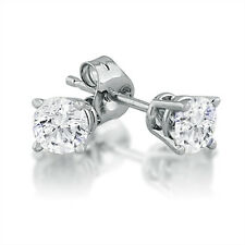 1/2ct tw Round Solitaire Diamond Stud Earrings in 14K White Gold