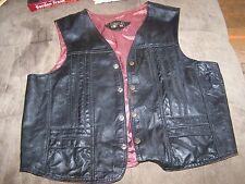 Vintage Leather Vest by Articulos De Piel Genuinos Hecho in mexico Size 48