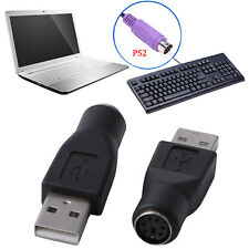 Adapters Converter PS/2 Female to USB2.0 A Male For Computer Keyboard Mouse 2Pcs