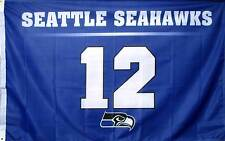 Seattle Seahawks 12th Man 2'x 3' NFL Premium Flag banner 2 Grommets