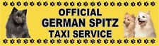 GERMAN SPITZ OFFICIAL TAXI SERVICE Dog Car Sticker  By Starprint