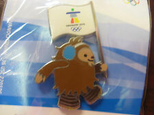 Vancouver 2010 Olympics - Quatchi With Vanoc Flag Pin