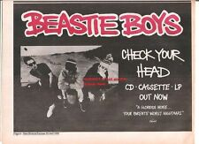 BEASTIE BOYS Check Your Head 1992 UK Press ADVERT 12x8 inches