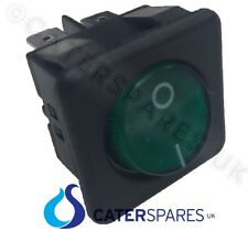 16a Neon Verde Interruttore Rocker POWER ON OFF BIPOLARE 4 PIN 25x25mm SQUARE ip40