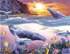 Whale Playground Ocean Marine Steve Sundram 500 pc Bagged Boxless Jigsaw Puzzle