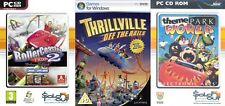rollercoaster tycoon 2 deluxe & thrillville off the rails & theme park world