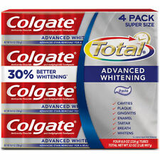 Colgate Total Advanced Whitening Toothpaste 4 PACK  8 oz EACH  New In Box!!