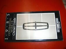 1985 LINCOLN CONTINENTAL MARK VII ORIGINAL FACTORY OWNERS MANUAL GUIDE