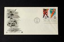 NRMT FDC 1984 SUMMER OLYMPIC GAMES 2 20 CENT STAMPS WRESTLING & WOMEN'S KAYAKING