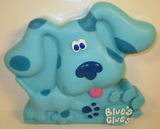 "1998 Blue 10"" Hinged Art Supplies Container Carry Case Blue's Clues by Colorbox"