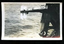 Royal Navy HMS Courageous Plane crash on side of ship vintage RP PPC