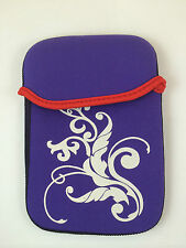 "FUNDA DE NEOPRENO CON DIBUJO DE 6"" PULGADAS PARA TABLET EBOOK COLOR MORADO"