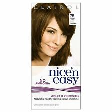 3 x Clairol Nice'n Easy Non-Permanent (Lasts Up To 24 Washes) Light Ash Brown 75