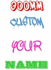 300mm wide CUSTOM Your Name Family Text Decal Stickers Car Window 4WD Wall JDM