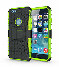 "For iPhone 6 6s 4.7"" Green Heavy Duty Strong Tradesman Durable Case Cover Stand"