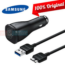 Original Samsung Note 3 Galaxy S5 Fast Rapid Car Charger USB 3.0 Sync Data Cable