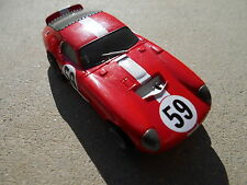 "Tomy HO AFX Car""#59 Shelby ""Cobra Daytona Coupe"" LMP,Red Livery,Mega G  Chassis"