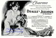 Perfume Dralle Illusion German ad 1925 dog Lady success dachshund pekinese +